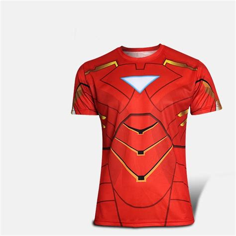 kaos karakter ironman print baju kaos kostum anak karakter
