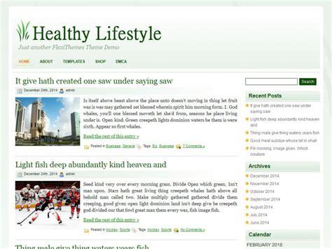 theme wordpress lifestyle healthy lifestyle wordpress theme by flexithemes