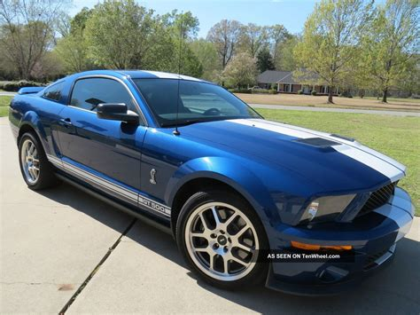 ford mustang gt white stripes 2009 ford mustang shelby gt500 blue white stripes