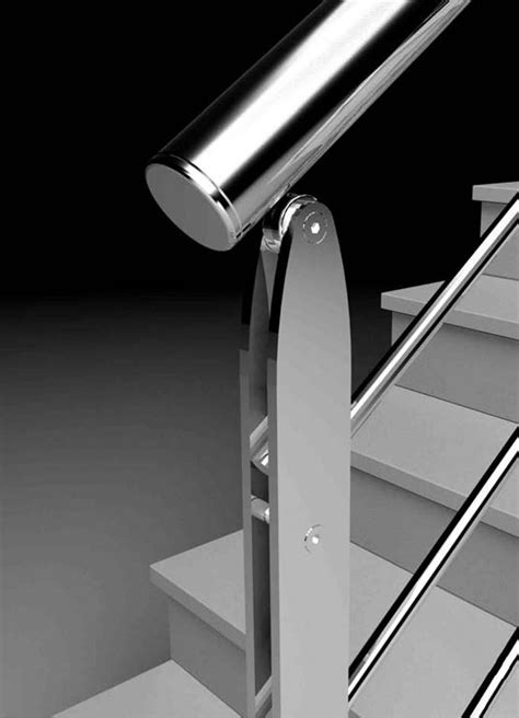 corrimano in acciaio montante per ringhiera in acciaio interna