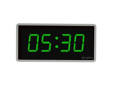 wall clock digital sbd 3000 series wired clock sapling clocks
