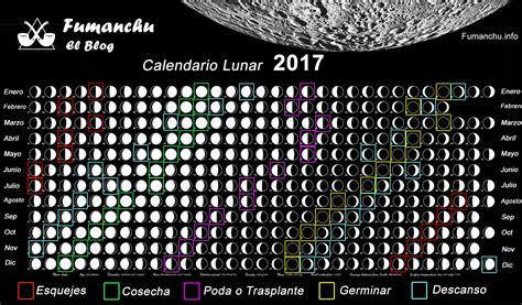 Calendario Lunar Octubre 2017 Usa Calendario Lunar 2017 5 Free Printable