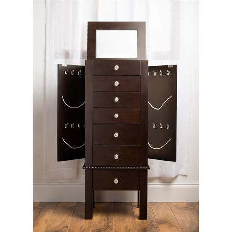 jewelry armoire walnut standing mirror jewelry armoire walnut standing mirror jewelry ideas