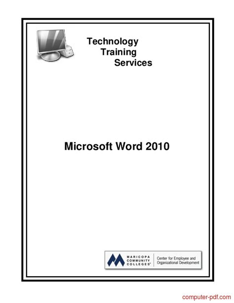 [PDF] Microsoft Word 2010 free tutorial for Beginners