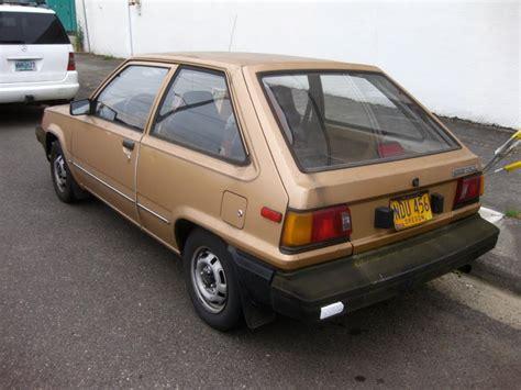 old hatchback old parked cars 1983 toyota tercel hatchback