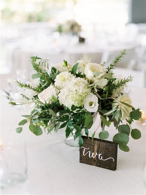 The Perfect Summer Wedding In Maine Greenery Hydrangea Greenery For Wedding Centerpieces