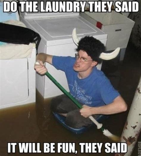 Laundry Meme - do the laundry they said