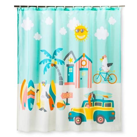 kids beach shower curtain fabric shower curtain tropical for sale classifieds