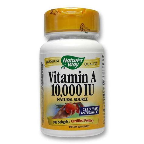 vitamin o supplement nature s way vitamin a 10 000 iu 100 softgels