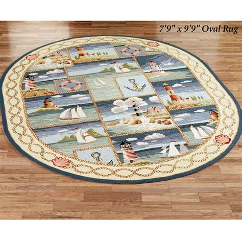 Nautical Area Rug Coastal Views Area Rug