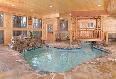 Cabin In Gatlinburg With Indoor Pool by Copper River Pigeon Forge Tn Indoor Heated Pool Two Waterfalls Luxury Cabins In Gatlinburg
