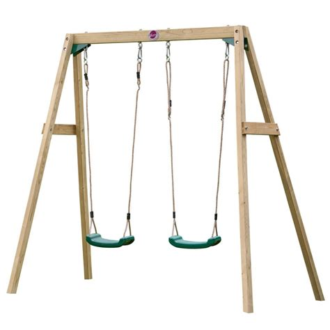 swing set swings plum wooden double swing set only 163 119 outdoor play