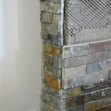 Building Our Fireplace: Installing the Slate Split Face
