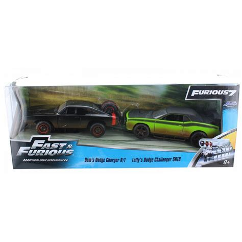 Fast Furious Doms Dodge Charger Romans Chevy 2 pack 2 modelli dom s dodge charger r t letty s dodge