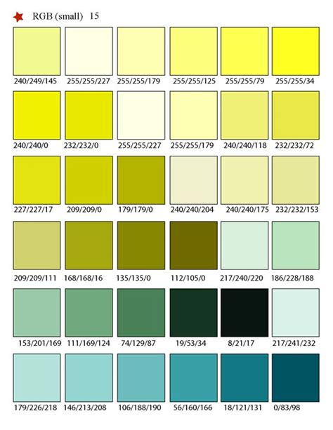 Matching Color Schemes by Printable Rgb Color Palette Swatches My Practical Skills