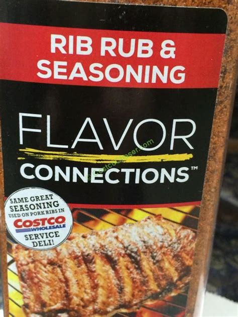 flavor connections rib rub seasoning  ounce container costcochaser