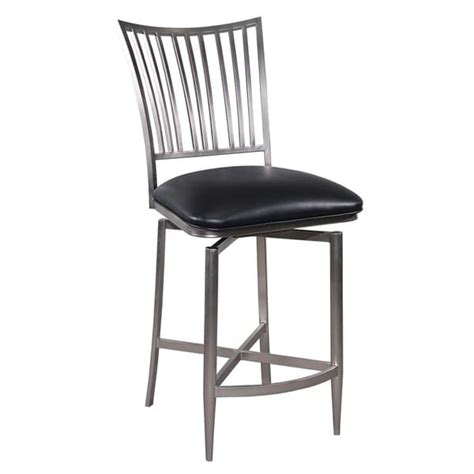 somette brushed nickel swivel bar stool free shipping