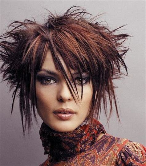 medium length spiky haircuts versatility of medium length haircut short funky hairstyles