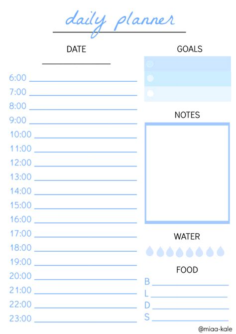 Galerry free printable daily planner tumblr