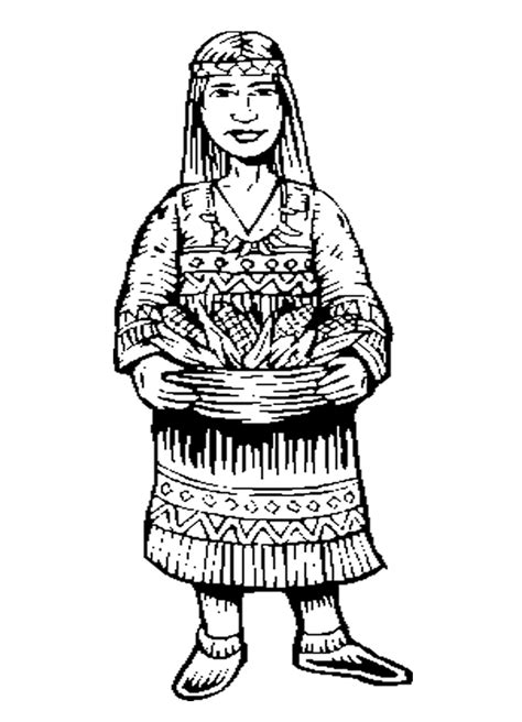 native american woman coloring sheet coloring home