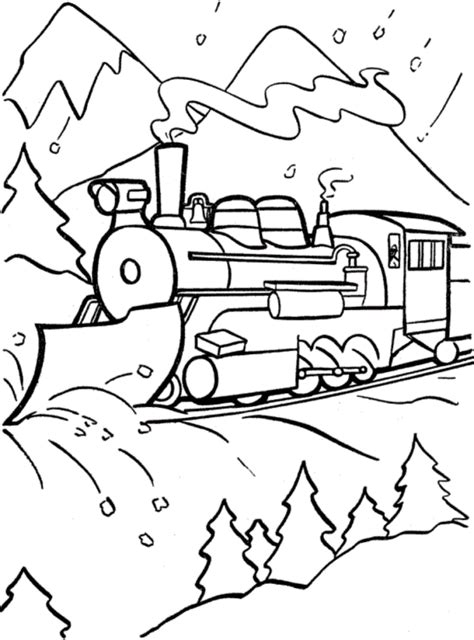 Christmas Coloring Pages Polar Express Coloring Pages