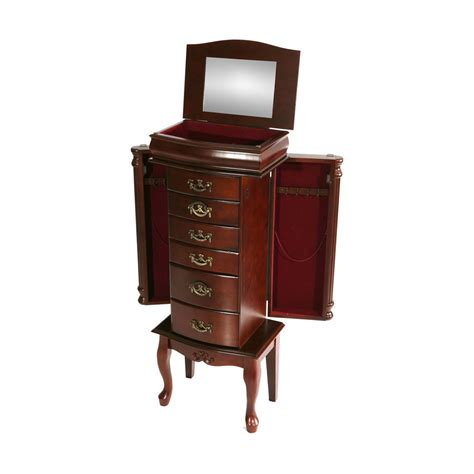 Southern Enterprises Jewelry Armoire by Mahogany Jewelry Armoire Southern Enterprises Jewelry