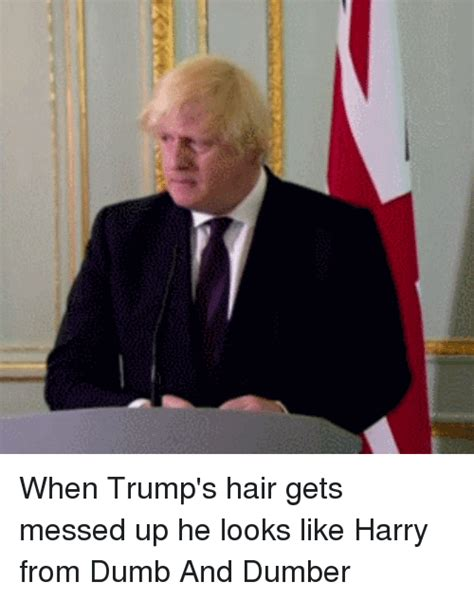Tells He Messed Up The - ipy when trump s hair gets messed up he looks like harry