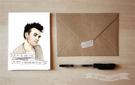 The Smiths Birthday Card Morrissey Greeting Card The Smiths Valentine S Day The