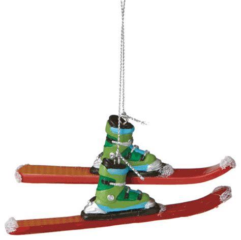downhill skiing christmas tree ornament ski winter sport