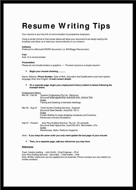 exles of resumes good resume bad exle choose 14
