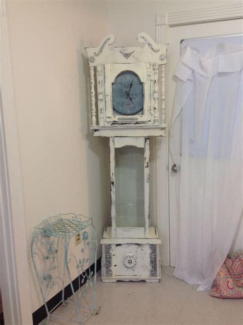 shabby chic grandfather clock beachy chic pinterest shabby chic grandfather clocks and clock