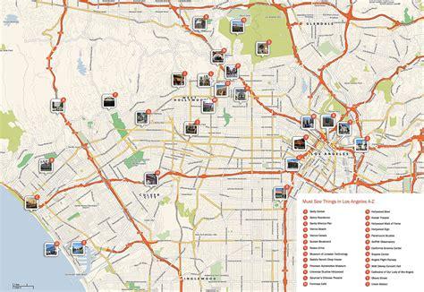 map of los angeles and las vegas los 193 ngeles plan de la ciudad mapas imprimidos de los