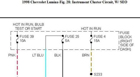 chevy lumina instrument panel light