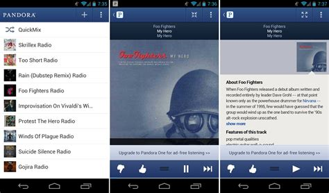 pandora radio for android pandora radio for android updated ui overhaul and much more droid