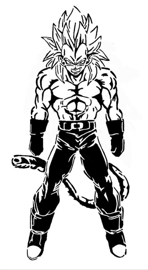 imagenes blanco y negro chistosas vegeta ssj4 super sayayin fase 4 en blanco y negro marbal