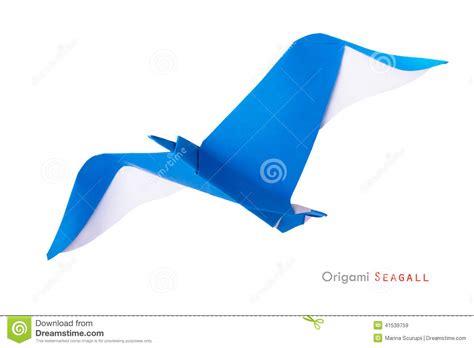 origami gabbiano origami seagull stock photo image 41539759
