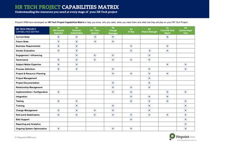 Capability Matrix Template Choice Image Template Design Ideas Business Capability Matrix Template