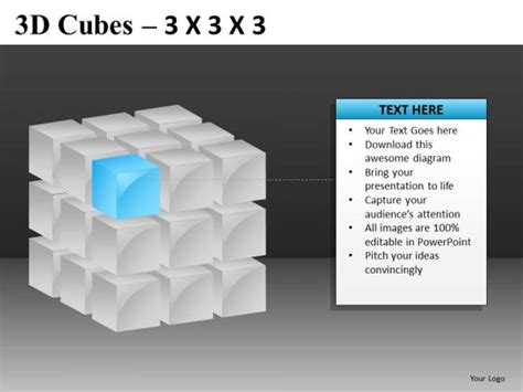 corner piece 3d cube powerpoint templates powerpoint