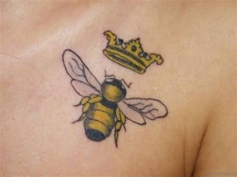 beehive tattoo designs 72 graceful crown tattoos on chest