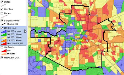 houston map by school district largest 100 school districts