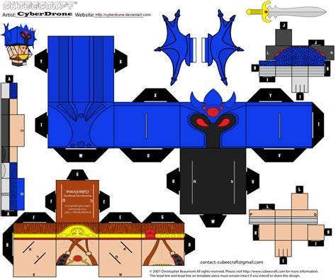 Cubee Papercraft - cubee warduke by cyberdrone on deviantart