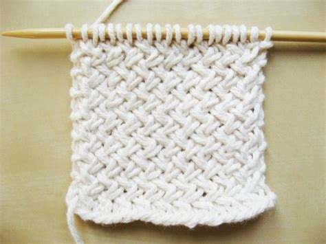 how to basket weave knit tutorial thursday diagonal basketweave knit pattern with