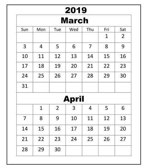 march april  calendar academic  calendar