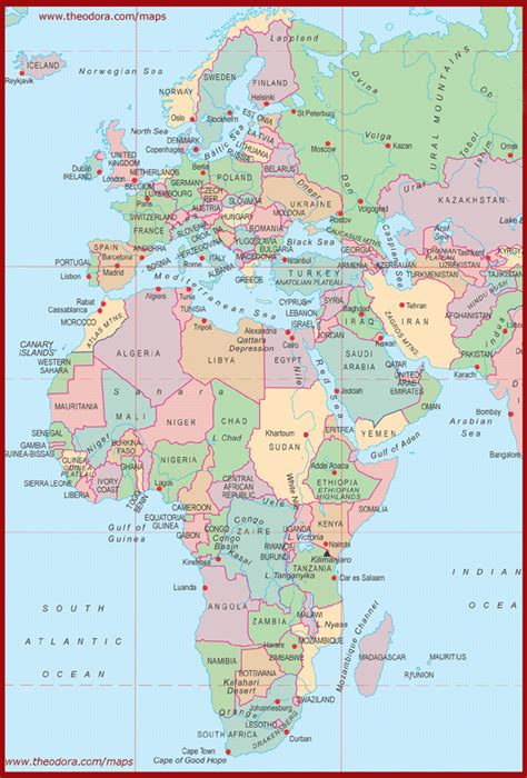 Europe Africa Map by Map Of Europe And Africa