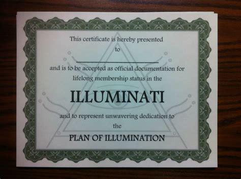 joining the illuminati illuminati membership certificate