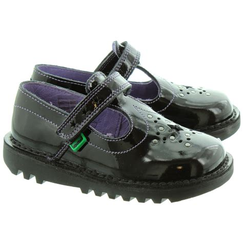 Kickers Safety Boots 01 kickers kick t bar shoes in black patent