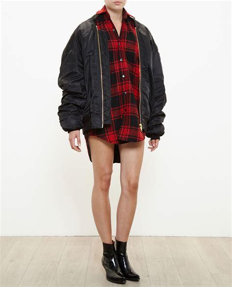 Parka Jacket Sweater Jaket Jaket Bomber Jaket Wanita vetements oversized bomber jacket in black lyst