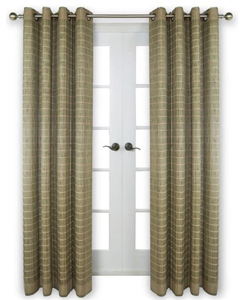 transitional curtains bamboo wood curtain panel with grommets 48 quot x84