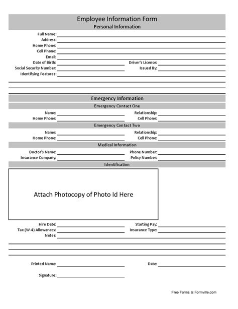 personal information form template basic personal information form template pictures to pin