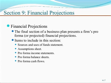 Financial Section Business Plan by Business Plan Financial Section